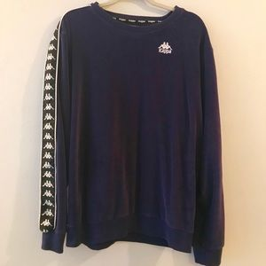 Kappa Purple Velour Sweater